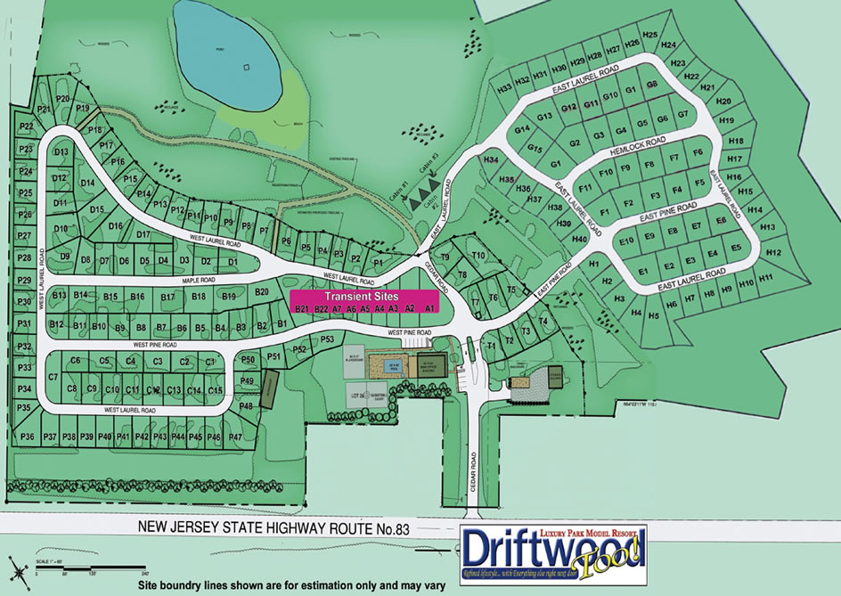 Driftwood Too Mobile Resort Map